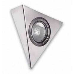 Halogeno triangulo  Inox. sin interruptor