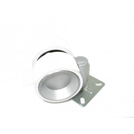 Rueda gris y plata con freno F6