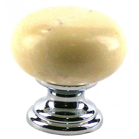 Pomo marmol crema marfil