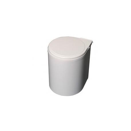 Cubo de basura redondo blanco