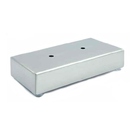 Pata metalica rectangular angulo niquel satinado