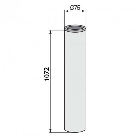Columna redonda para mesa alta inox mate