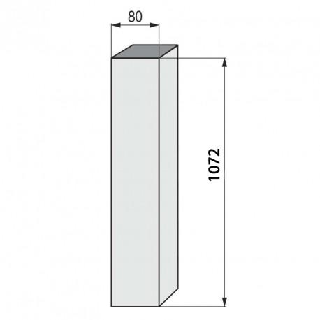 Columna cuadrada para mesa alta inox brillo