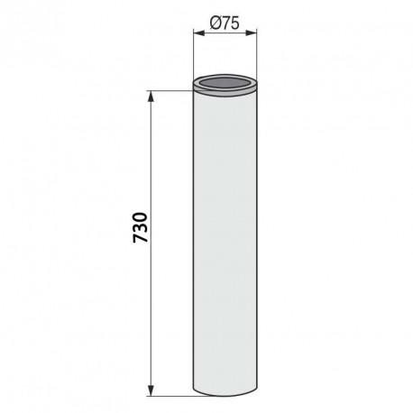 Columna redonda para mesa baja inox brillo