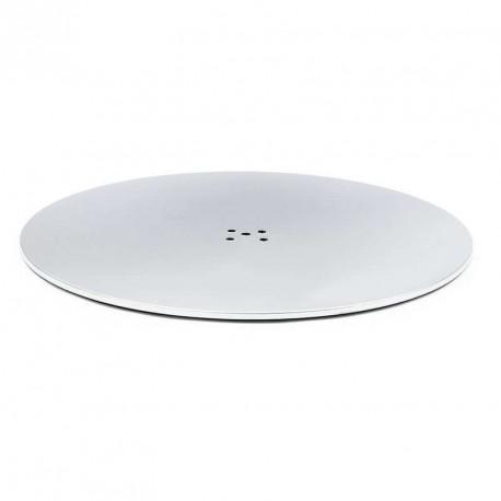 Base redonda para columna mesa inox mate