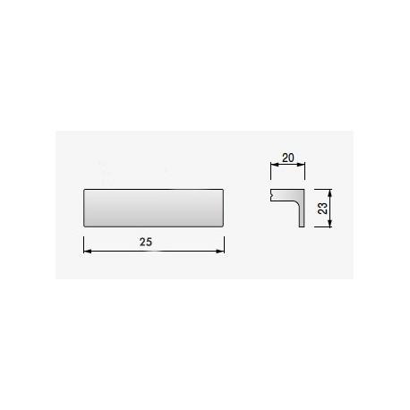 Tirador Aluminio cromo