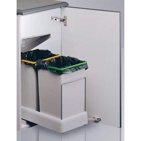 Cubo de basura ecologico rectangular