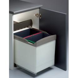 cubo de basura ecologico rectangular con brazo 45
