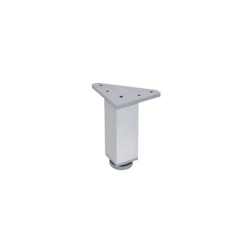 Pata de aluminio cuadrada 120 bricca for Mueble de aluminio exterior