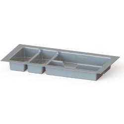 Cubertero plastico para cajones Grin metalizado