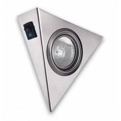 Halogeno triangulo  Inox. con interruptor