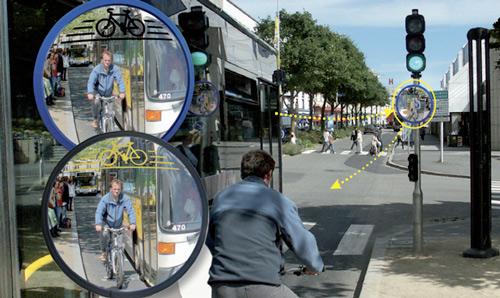Espejo para seguridad del ciclista