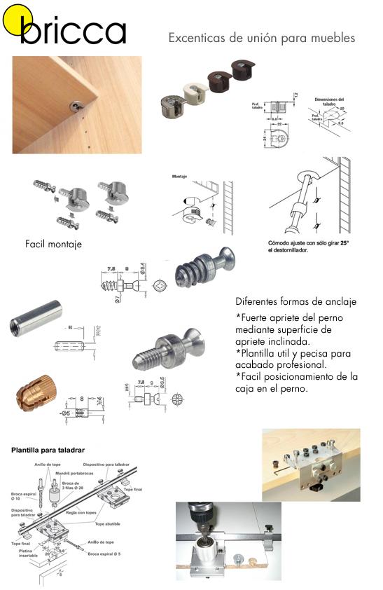 Uni n de muebles con exc ntricas blog de bricca for Muebles de cocina para armar
