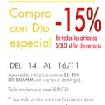 -15% Solo el fin de semana