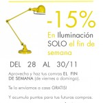 15% descuento en iluminación
