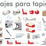 Mecanismos y herrajes de tapicería.