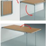 La mesa ideal para espacios reducidos.